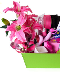 A $500 value gift basket of Luxury Pink Products