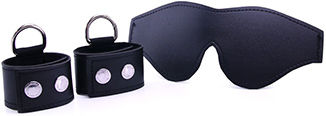 S&M cuffs and blindfold kit