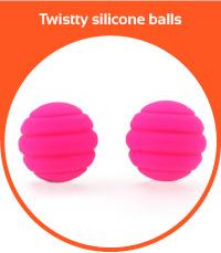 Twistty silicone balls