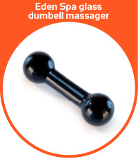 Eden Spa glass dumbell massager
