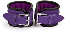 Purple hand cuffs